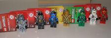 7! unterschiedeliche Lego Schlüsselanhänger Ninjago Kai , 2x Zane , Lloyd etc.