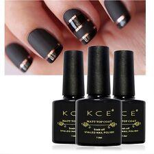 Matte Gel Nail Polish Black UV/LED Soak Off Nail Polish UV LED Gel Nail Art 10ml
