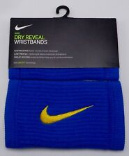 Nike Reveal Dw Doublewide Wristbands Rush Blue/Amarillo