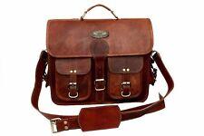 Real Vintage Leather Messenger Bag Shoulder Laptop Briefcase Gift For Christmas