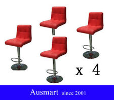 4 x L shape swivel Bar Stool - black | Ausmart Furniture