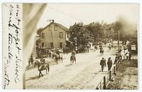 RPPC Cavalry Parade WEATHERLY PA Vintage Carbon County Real Photo Postcard