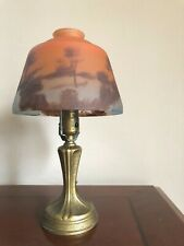 Vintage REVERSE Hand Painted LAMP SHADE ARTS CRAFTS Antique FROST GLASS Nouveau