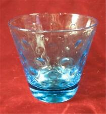 Vintage Capri Dots Old Fashioned Glass Hazel Ware Continental Can Azure Blue (O)