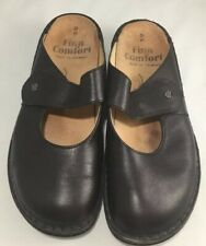 Finn Comfort Brown Mary Jane Clogs Mules 41 - US 10-10.5 D