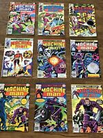 MACHINE MAN 9 Issue Lot Includes 1 2 4 5 6 10 13 15 16 Kirby Bronze Age Classic!