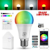 LED Smart Glühbirne Licht RGB+WW+CW Birne Lampe Dimmbar Farbwechsel Bluetooth
