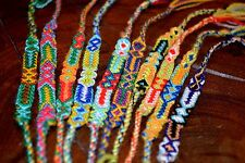 Friendship Bracelets Nylon Set Of 6 Handmade Wristbands Fairtrade Wholesale UK
