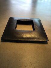 DONN KARAN Black Leather Bracelet Bangle Square