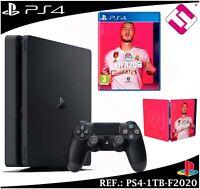 CONSOLA SONY PS4 PLAYSTATION 4 1TB FIFA 2020 1 MANDO NEGRO STOCK REAL ESPAÑA