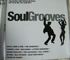 CD SoulGrooves 30 Rare Old School Grooves Of The 70s and 80s 2 Disc Set