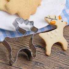 Chrismas Deer Stainless Steel Cookies Cutter Cake Decor Biscuit Mould Mold Tools