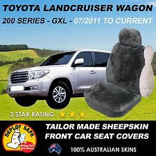 Tailored Sheepskin Car Seat Covers for TOYOTA LANDCRUISER 200 SERIES Airbag Safe
