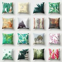 Decor Pillow Home Cushion Cover Sofa Case Throw Waist Polyester 18''