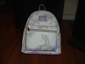 LOUNGEFLY DISNEY TANGLED FLORAL SKETCH MINI BACKPACK~ WITH TAGS~BRAND NEW~