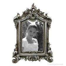 Rokoko Barock Bilderrahmen Fotorahmen Rechteckig Silber Vintage Look Antik Stil
