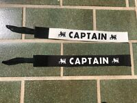Captains armband PREMIER LEAGUE Match Worn Issue VERY OLD BLACK or WHITE