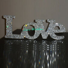 """Crystal """"LOVE"""" standing love sign Wedding Reception Sign Solid Wooden Letters"""