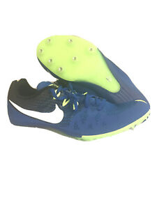 Nike Zoom Rival Track Field Sprint Spikes Shoes Size 12 BlueGreen 806555-413 New