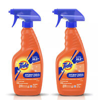 NEW Lot (2) TIDE ANTIBAC FABRIC SPRAY Bottles Kills 99% Germs Soft Surfaces 22oz