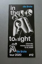 Die Ärzte Chemnitz 13.12.2020 Innenraum Stehplatz Ticket
