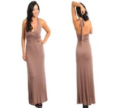 LD6 New Women Size 22/24 Brown Formal Evening Cocktail Party Bodycon Dress Plus