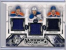 J.EBERLE,T.HALL,& S.GAGNER '13-14 SPx WINNING TRIOS TRIPLE 2CL.GAME USED JERSEYS