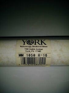York Double Roll Wallpaper MM 1050 R-16 Beige & White Splatter 11 Yards NEW