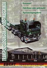 Prospekt Ebert Spezialfahrzeuge 2002 Transport Forstmaschinen Autoprospekt LKWs