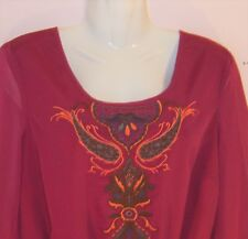 SAVOIR LADIES LONG SLEEVE BLOUSE WITH EMBROIDERY UK SIZE 14