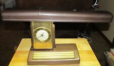 Vintage Sessions Clock/Desk Lamp Combination - Very Nice Condition! Working!