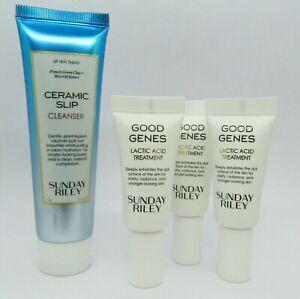 Sunday Riley Good Genes Lactic Acid Treatment (x3 0.17) & Ceramic Slip Cleanser