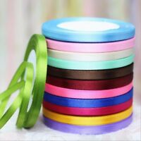 1 Roll 6mm Satin Ribbon Sewing Fabric Gifts Wrapping Wedding Party Decoration