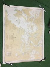 vintage 1966 Fishing map Canada Lake Of The Woods Southeastern Portion Sabaskong