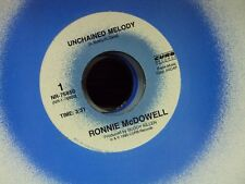 """RONNIE MCDOWELL Unchained Melody/Sheet Music 7"""" 45 early-90's country"""