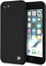 BMW iPhone SE 2020, 8, 7 Silikon Hülle Case Cover mit Innenfutter Schwarz