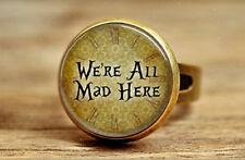 Cheshire Cat Ring Alice in Wonderland We're all mad here Jewellery Jewelry Gift