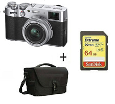 X100V Mirrorless Digital Camera Silver + 64GB SD CARD  + CASE / Stock in UK