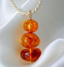 Handgefertigt Gelbgold beschichtete Echtschmuck-Halsketten & -Anhänger für Damen
