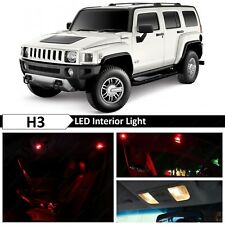 16x Red Interior License Plate LED Lights Package Kit for 2005-2010 Hummer H3