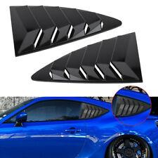 2PCS Gloss Black Rear Quarter Window Louver Cover For Toyota 86 Scion FRS Subaru