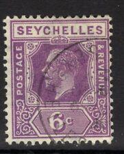 Seychelles SG105 1922 6 C profunda Malva Fine Used