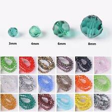 3mm 4mm 6mm 8mm Round 32 Facets Crystal Glass Loose Crafts Beads Wholesale Lot