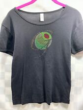 Jeweled Olive Letter g Black Women's Shirt Size XL