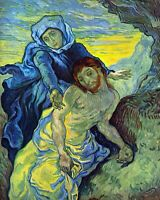 Pieta (by Eugene Delacroix) by Vincent Van Gogh Giclee Print Repro on Canvas