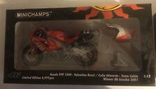 1:12 Minichamps Honda VTR 1000 + Figure Valentino Rossi 8H Suzuka 2001