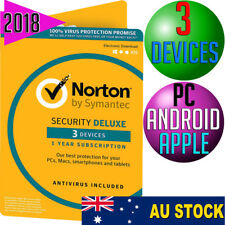 Norton Internet Security DELUXE 2018 Anti-Virus 3 DEVICES Multi PC Mac Android