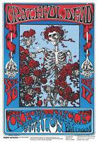 """Grateful Dead - Skeletons & Roses Poster - 24"""" x 36"""""""
