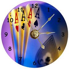 NEW Cool Poker Hand CD Clock