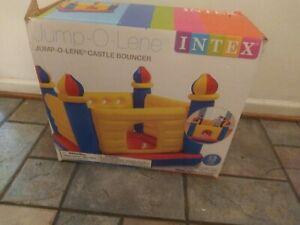 Intex Inflatable Jump-O-Lene Castle Bouncer Ball Pit